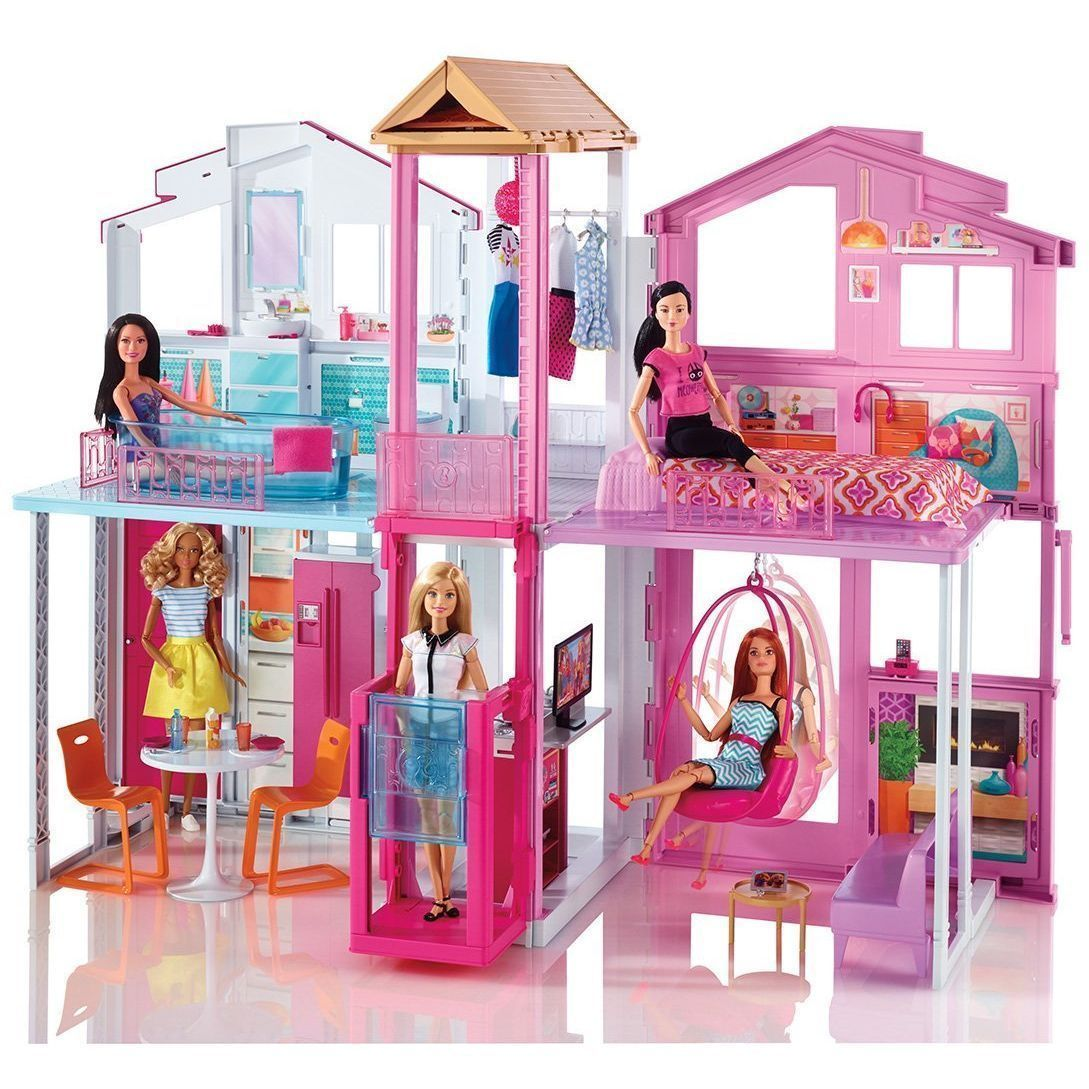 Barbie dly32 la casa di malibu con accessori e colori for Casa accessori